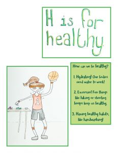 ABC Like A Girl by Ariel Shultz – H is for Healthy